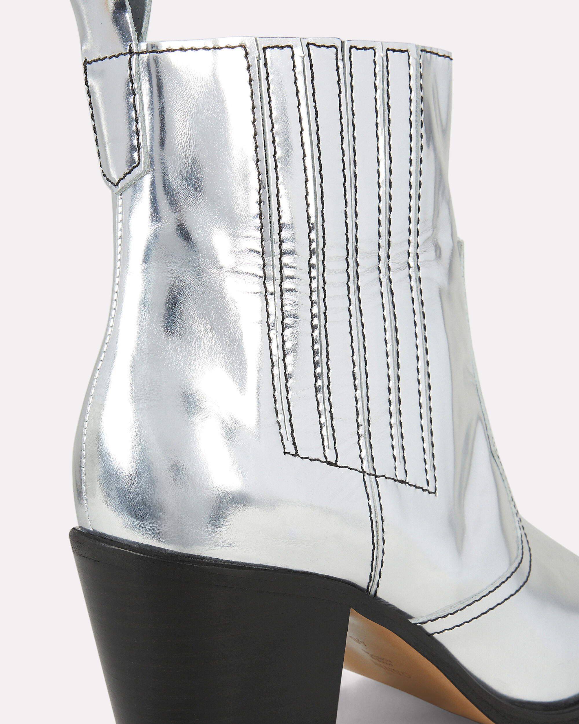 Western Silver Boots, SILVER, hi-res