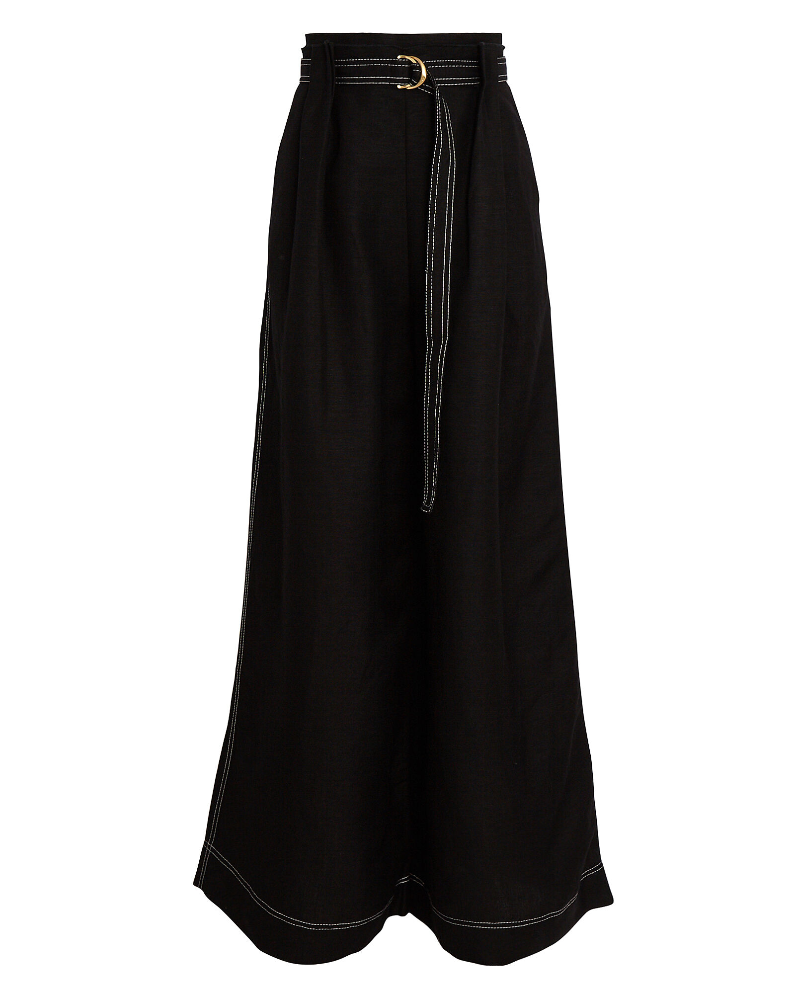 Psychedelia Pleated Wide-Leg Trousers, BLACK, hi-res