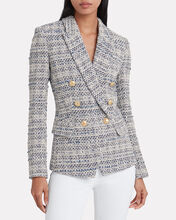 Kenzie Tweed Double Breasted Blazer, NAVY, hi-res
