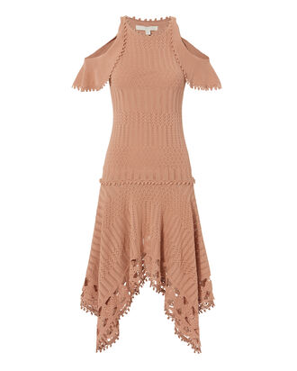 Crochet Handkerchief Hem Dress, BLUSH, hi-res