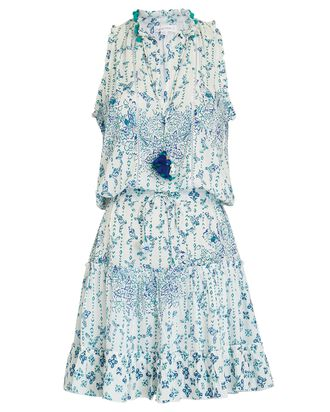 Clara Sleeveless Batik Dress, LIGHT BLUE, hi-res