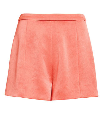 Chance Pink Silk Shorts, PINK, hi-res