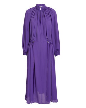 Purple Drawstring Dress, PURPLE-DRK, hi-res