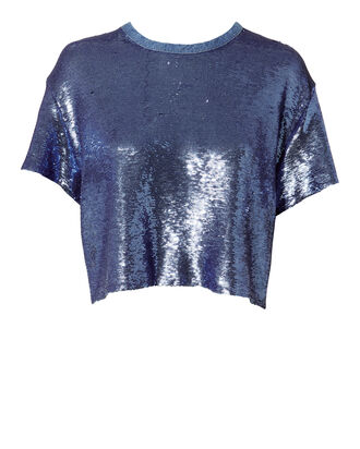 Natesa Sequin T-Shirt, BLUE-LT, hi-res