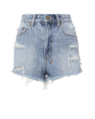 Clas-Sick Cut Off Shorts, DENIM, hi-res