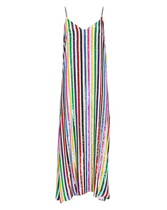 Rainbow Sequin Midi Dress, MULTI, hi-res