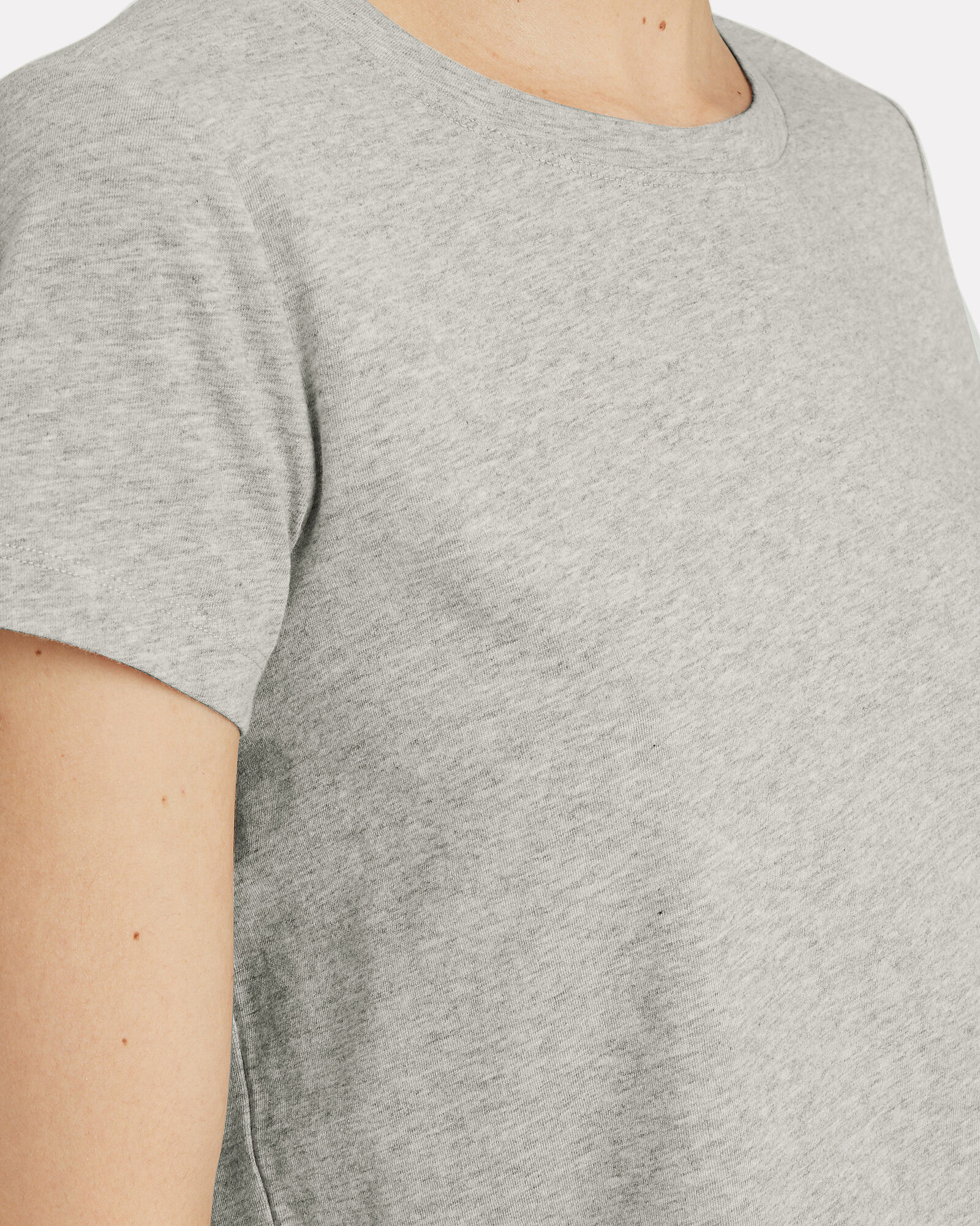 Classic Cropped Jersey T-shirt, GREY, hi-res