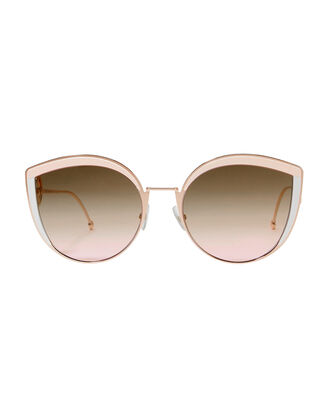 Pink Enamel Cat Eye Sunglasses, PINK, hi-res