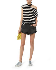 Rolln Out Distressed Shorts, BLACK, hi-res