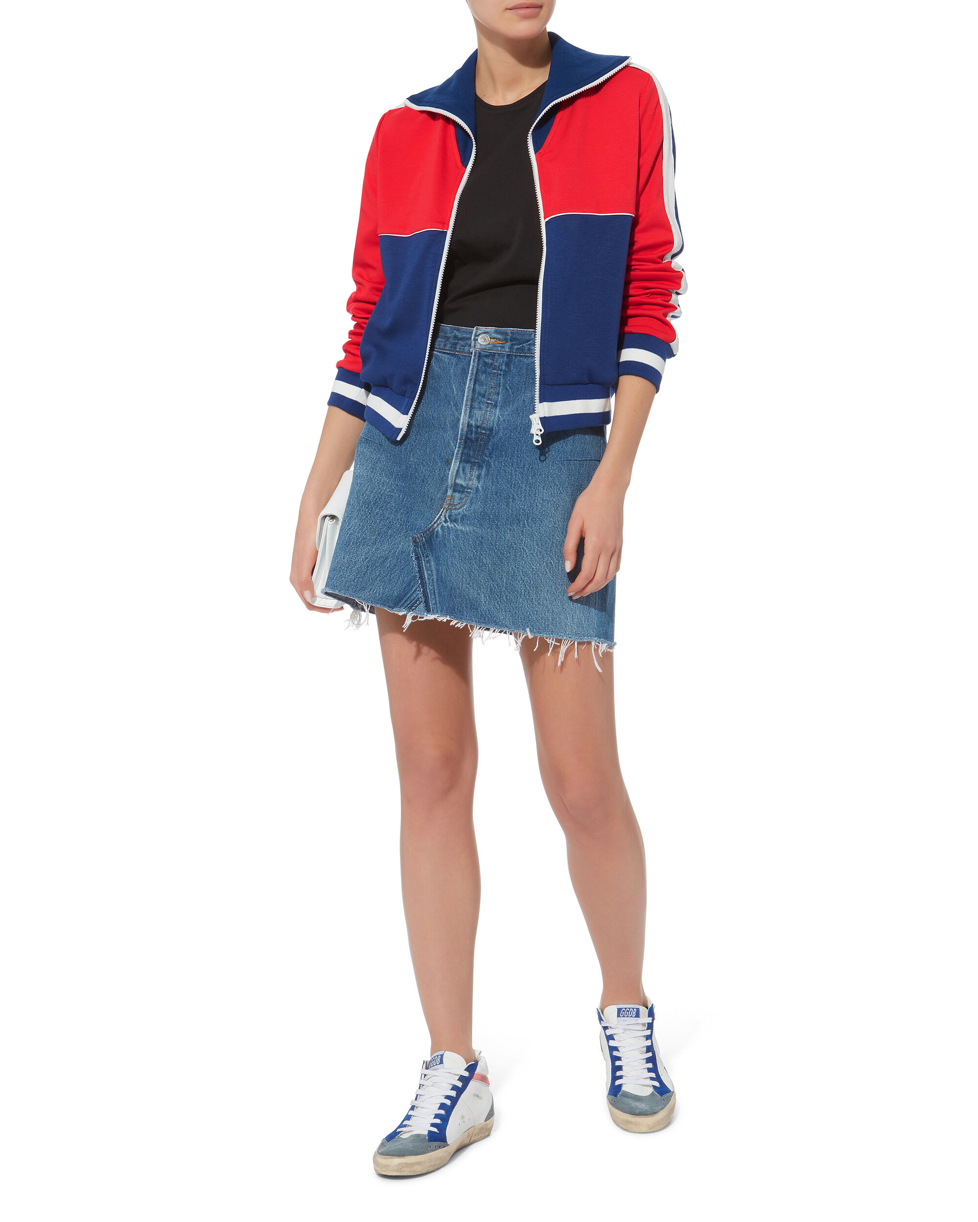 Colorblocked Slim Track Jacket, BLUE-MED, hi-res