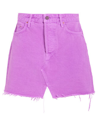 Milla Denim Mini Skirt, ELECTRIC PURPLE, hi-res