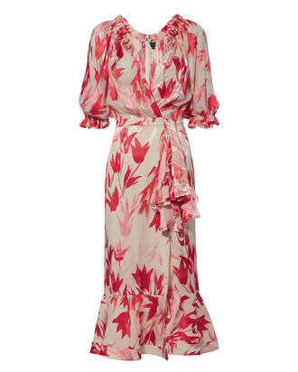 Olivia Floral Midi Dress, MULTI, hi-res