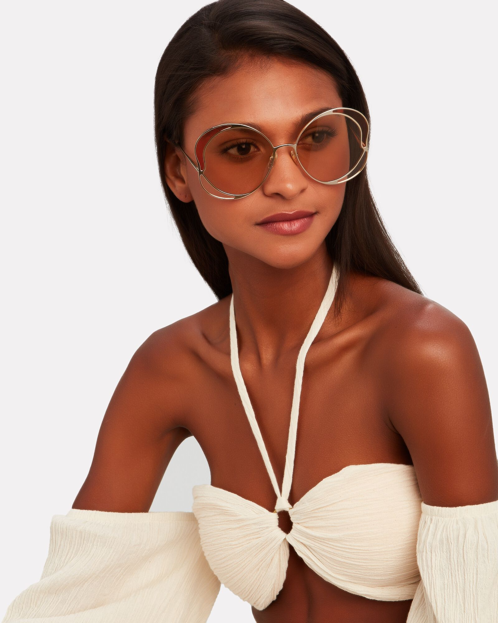 Oversized Butterfly Sunglasses, BROWN, hi-res