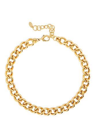 Mattea Chain-Link Necklace, GOLD, hi-res
