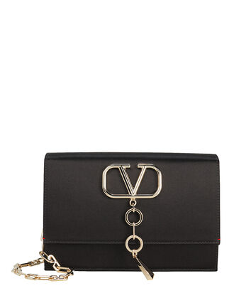 Small VCASE Leather Crossbody, BLACK, hi-res