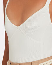 Ursula Rib Knit Tank Top, WHITE, hi-res