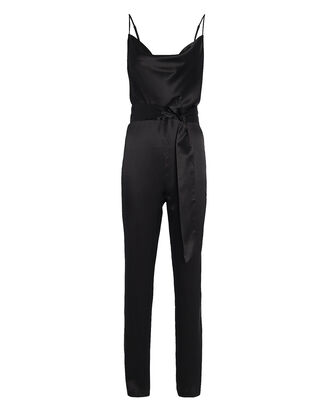 Maria Silk Cowl Neck Jumpsuit, BLACK, hi-res