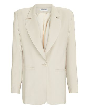 Leah Fitted Blazer, BEIGE, hi-res