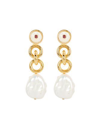 Eden Pearl Drop Earrings, WHITE, hi-res