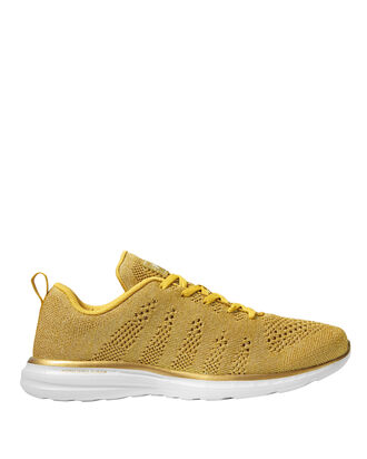 TechLoom Pro Metallic Gold Low-Top Sneakers, GOLD, hi-res