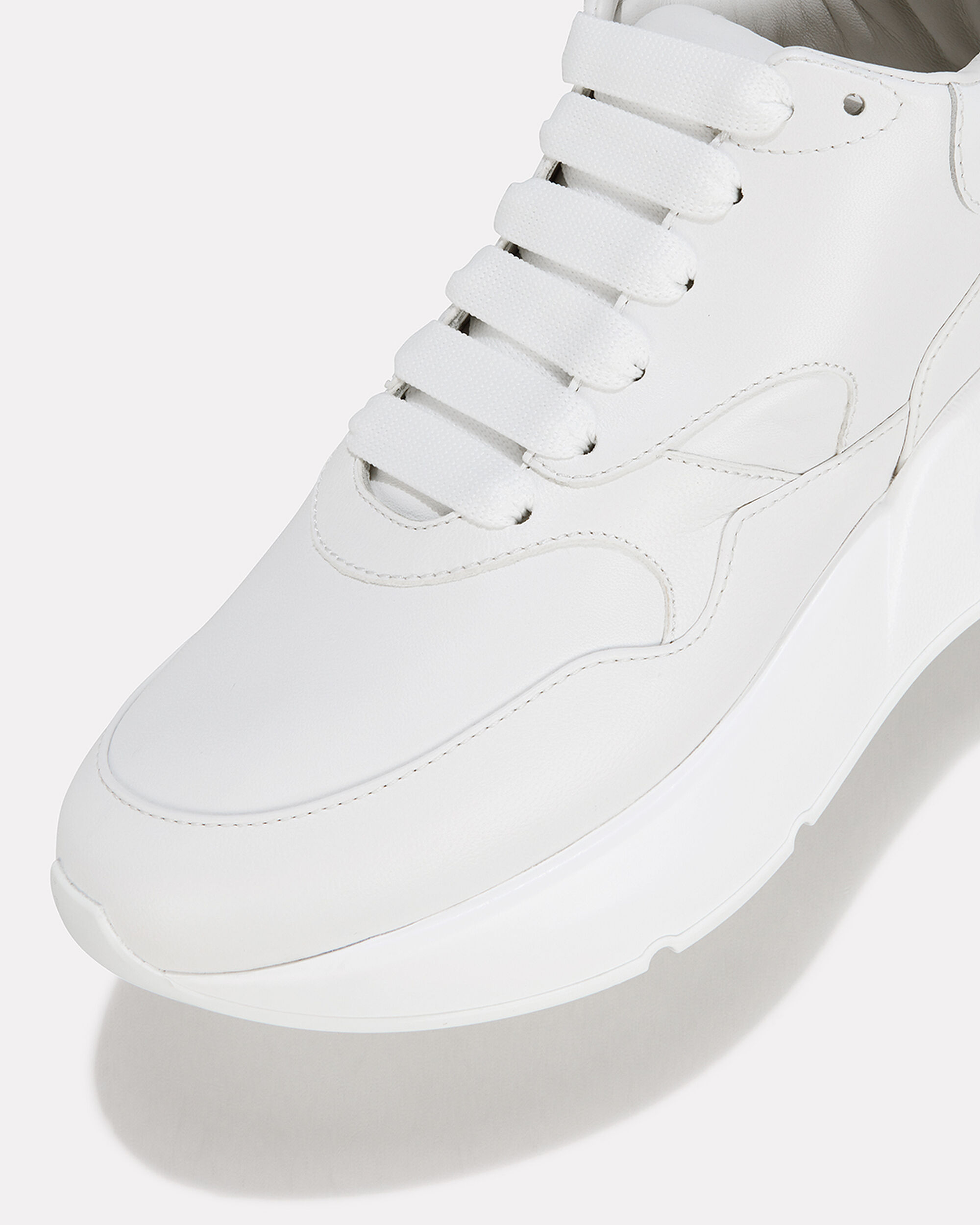 Oversized Runner Low-Top Sneakers, WHITE, hi-res