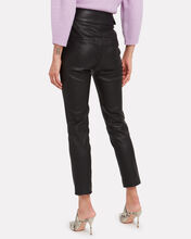 Jania Cropped Leather Trousers, BLACK, hi-res