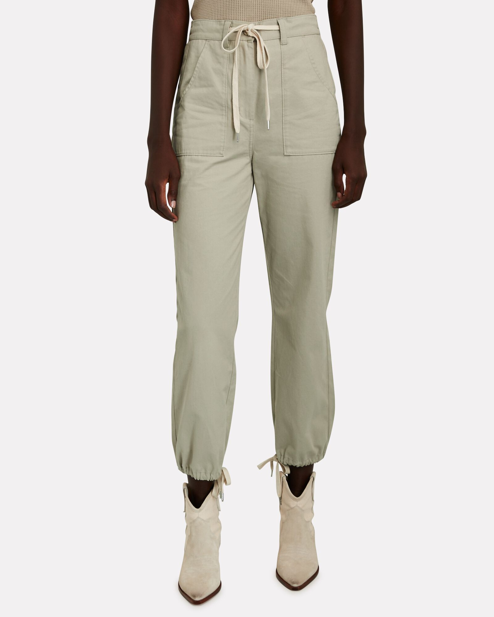 Military Twill Jogger Pants, OLIVE/ARMY, hi-res