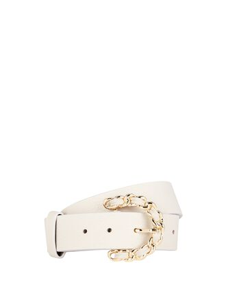 Anabelle Braided Buckle Belt, WHITE, hi-res