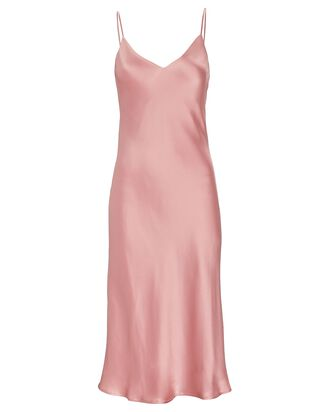 Jodie Silk Slip Dress, PINK, hi-res