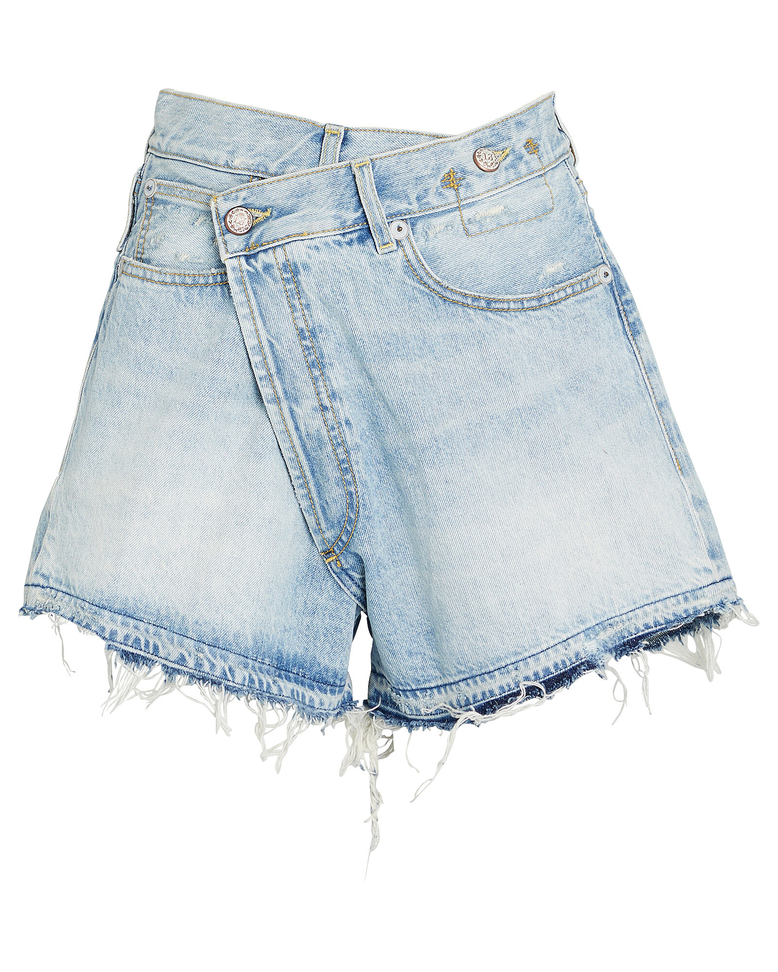Crossover Distressed Denim Shorts, TILLY, hi-res