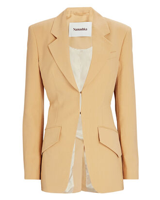 Lydia Fitted Blazer, BEIGE, hi-res