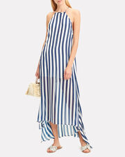 Sofia Blue Stripe Maxi Dress, BLUE/WHITE, hi-res