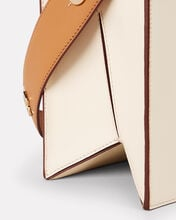 Zoe Colorblock Leather Clutch, IVORY, hi-res