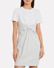 High Twist Combo T-Shirt Dress, WHITE/HEATHER GREY, hi-res