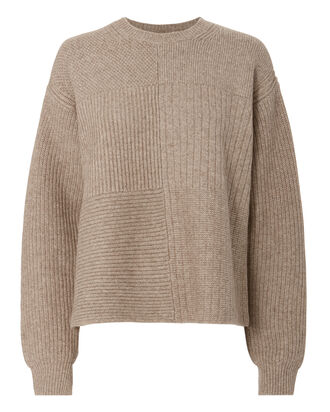 Textured Beige Sweater, BEIGE/KHAKI, hi-res