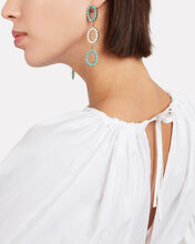 Piazza Statement Earrings, GOLD/TURQOUISE, hi-res