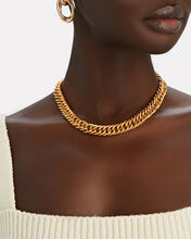 Adia Fishtail Chain-Link Necklace, GOLD, hi-res