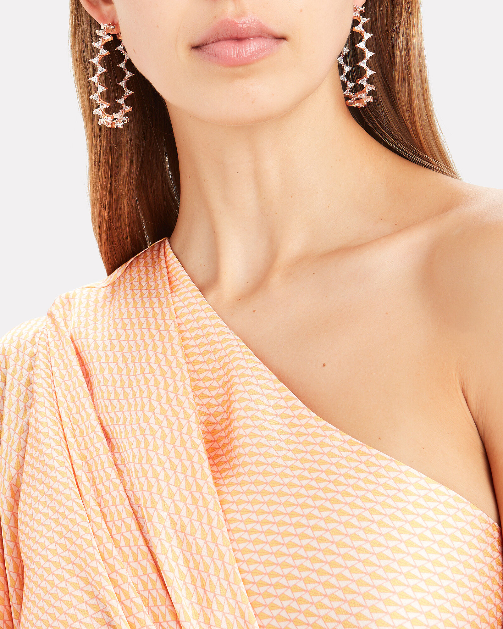 Rachel Crystal Hoop Earrings, ROSE, hi-res