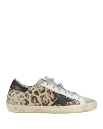 Superstar Snow Leopard Low-Top Sneakers, WHITE, hi-res