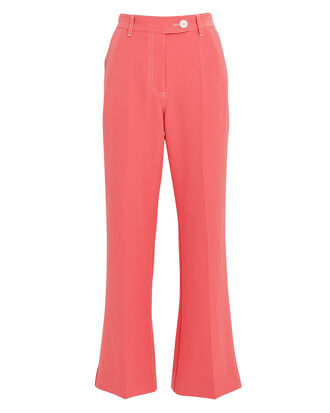 Bob Cropped Flare Trousers, ROSE, hi-res