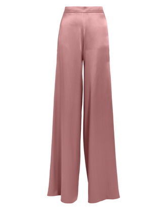 High Waist Silk Mauve Pants, BLUSH, hi-res