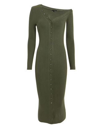 Tilted Midi Dress, OLIVE/ARMY, hi-res