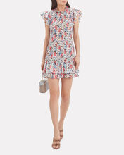 Cici Ruched Floral Mini Dress, MULTI, hi-res