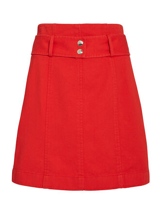 Abigail Mini Skirt, RED, hi-res