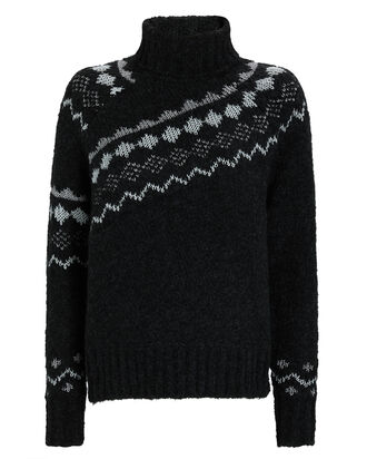 Grammer Fair Isle Turtleneck Sweater, BLACK, hi-res