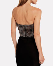 Sequin Mesh Corset Top, BLACK/ROSE, hi-res