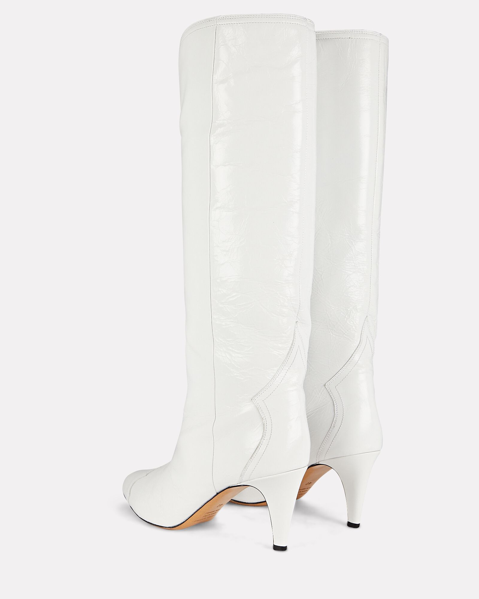 Lyestany Tall Leather Boots, WHITE, hi-res
