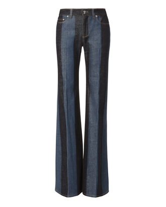 Striped Denim Wide Leg Pants, DENIM-DRK, hi-res