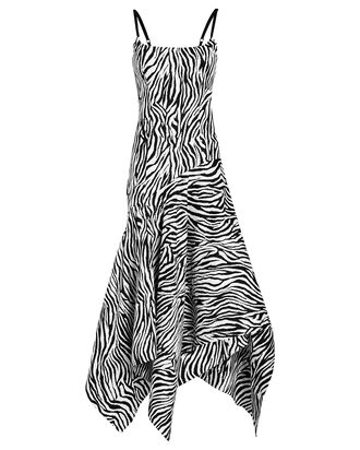 Marisol Bustier Printed Dress, ZEBRA PRINT, hi-res