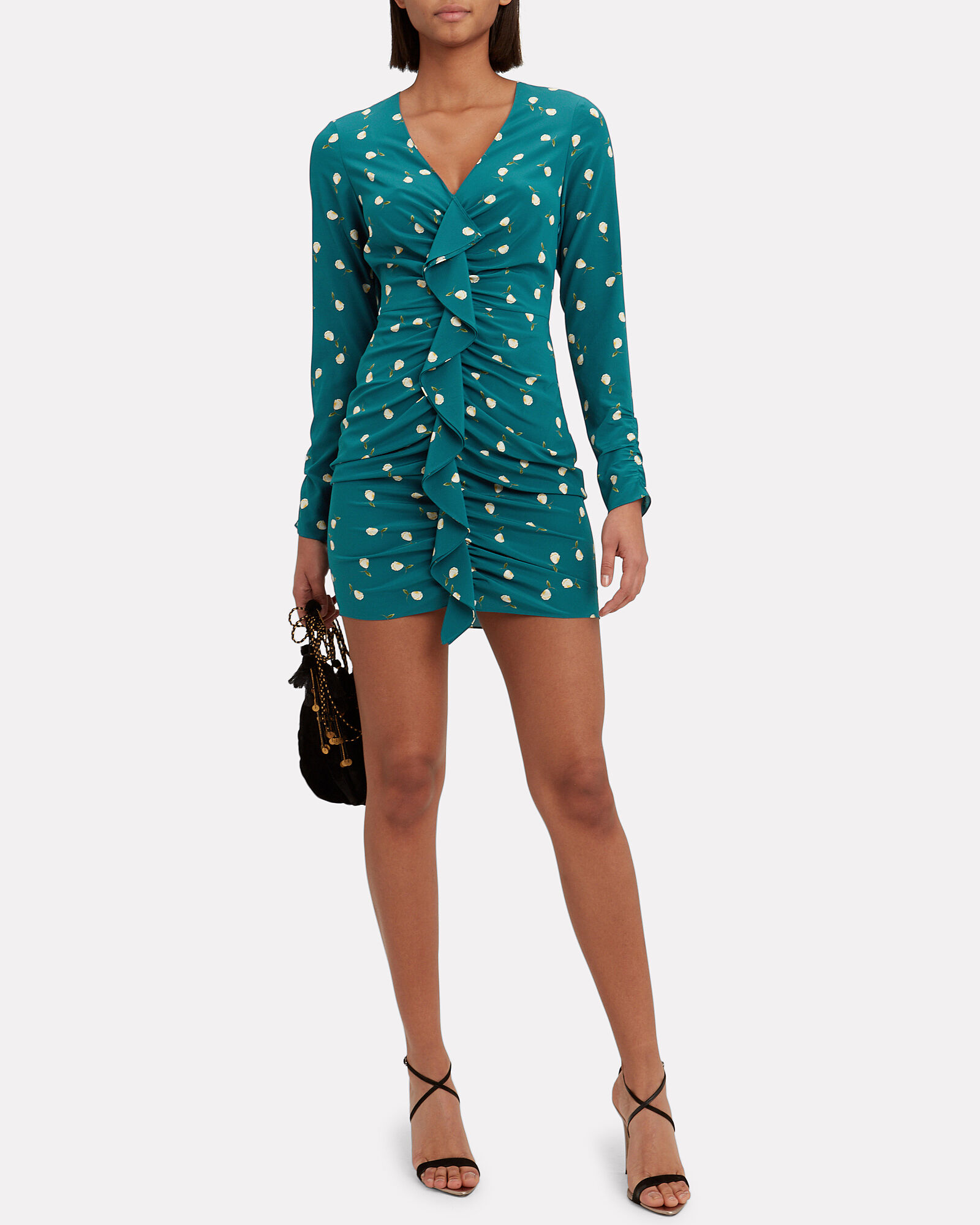 Adrienne Floral Mini Dress, MULTI, hi-res